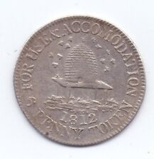 NOT LOCAL SILVER SIXPENCE TOKEN 1812  D.12 GVF