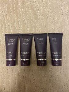 Lot Of 4 Asprey London Purple Water Shower Gel | 1.7 oz | 50 ml | Travel Size