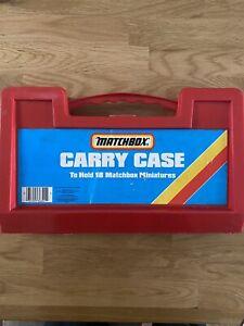 Vintage 1985 Matchbox Carry Case & 18  Diecast Models Inc Rare Ford Capri