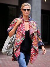 10 Vintage Handmade kantha Long Winter Long Jacket Reversible Ralli Gudri coat