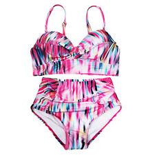 Women High Waist Bikini Push Up Padded Swimwear Swimsuit Bathing Suit Plus Size