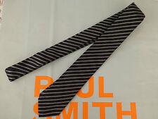 PAUL SMITH Slim Tie Exquisite Stripe Black 6cm BLADE Silk Long Ties BNWT RRP£80