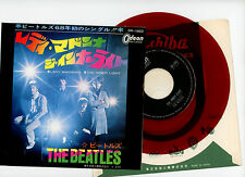 """THE BEATLES 7"""" PS Japan LADY MADONNA red wax vinyl"""