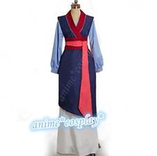 Movie Hua Mulan Blue&Pink Dress Mulan Princess Dress Cosplay Costume Fancy Dress