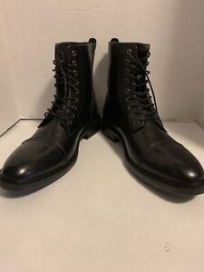 Joseph Abboud Lewis Men Boot Size 13 Black Leather
