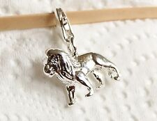 BEAUTIFUL SILVER LION - ZODIAC SIGN LEO CLIP ON CHARM -  925 SILVER PLATE