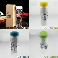 Clear My Bottle Sport Fruit Juice Water Portable Simple 500ML Travel Bottle +bag
