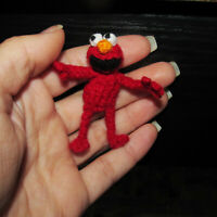 Handmade Dollhouse Miniature Ooak Elmo Sesame Street Artist Doll Toy Gift