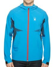 Spyder Orbit Shell Jacket Full Zip Hooded 417650 Men's Large French Blue NEW $99