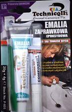 ENAMEL Ceramic Repair Kit WHITE Tray SINK Acrylic Batch Shower Fridge CHIP 24ml
