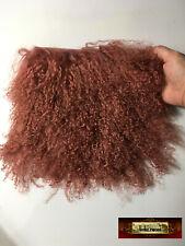M01341-Pelt Morezmore Tibetan Lamb Fur 8 x 8 Pelt Rose Auburn Doll Puppet Hair