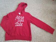 AEROPOSTALE Red Hooded Sweatshirt Ladies LARGE
