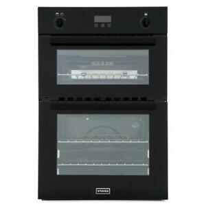 Graded Stoves BI900 G Black Double Built In Gas Oven