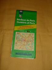 MICHELIN Carte Routière et Touristique N°101 Banlieue de Paris 1993