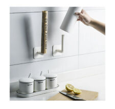 Wall Mounted Roll Paper Towels Holder Rack Tissue Roll Stand Bathroom Kitchen