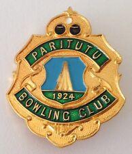 Paritutu Bowling Club Badge Pin New Zealand Est 1924 Rare Vintage (M21)