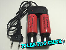 2 PILES ACCUS C R14 LR14 10000mAh RECHARGEABLE 1.2V Ni-Mh + CHARGEUR NEUF 2016