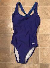 SPEEDO Purple Sz 6 One Piece Shelf bra Piped Ultraback Swimsuit Lined Excellent