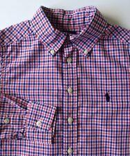 Ralph Lauren botones en el cuello muchachos camisa tamaño S (8 años) en muy buena condición