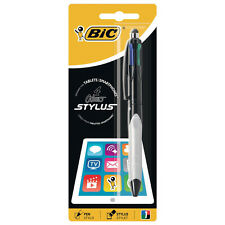 ★1 PENNA A SFERA BIC 4 COLOR STYLUS INCHIOSTRO MULTICOLOR 1MM CON TOUCH PENNINO★