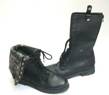 Hot Topic High Boots Comic Book Flip Over Inside Liner women's size 6