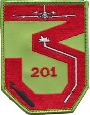 RAF 201 Squadron Crew 3 Embroidered Patch ** LAST FEW **