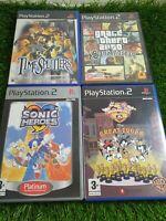 PS2 Game Bundle, GTA, Sonic Heroes, The Great Edgar Hunt & Time Splitters