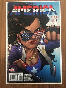 America #1 Mckelvie 2017 Chavez Marvel 1st Solo Comic Book FN Condition