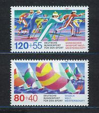 ALEMANIA/RFA WEST GERMANY 1987 MNH SC.B652/B653 Sailing,Cross-country skiing