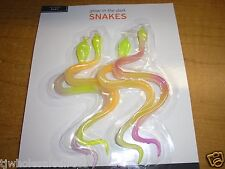 NEW  2 X  4 PK Glow in the Dark Snakes Holidays Time Christmas Season Party time