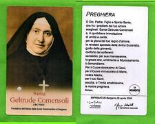 Reliquia – Reliquiario – Santino -  Santa Geltrude (Gertrude) Comensoli