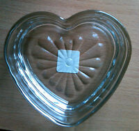 Libbey Heart-shaped Relish/Candy Dish - Clear Glass
