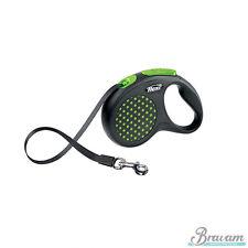 FLEXI DESIGN  Automatik Leine  Hundeleine Seilleine Gurtleine Flexileine Neon