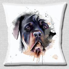 Perro Rottweiler Funda de cojín 40.6x40.6cm 40cm Marrón Negro Artístico diseño