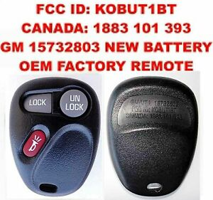 OEM 99 00 01 GM GMC CHEVY KEYLESS ENTRY REMOTE FOB TRANSMITTER 15732803 KOBUT1BT