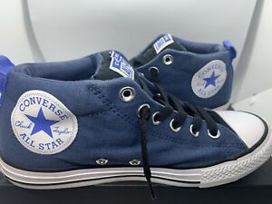 Converse Chuck Taylor All Star Street Mid Canvas Boys Sneaker Color Blue Size 5