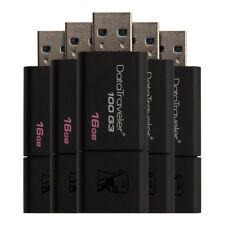Kingston 16GB USB 3.0 Flash Drive Memory Stick Pen Thumb - 5 Pack New Uk