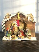 Vintage Stand Pop Up Nativity Card Gloria in Excelsis Deo Printed In Italy