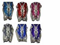 Kaftan Dress Short length Loose Casual Boho Women Ethnic Summer Beach Dress