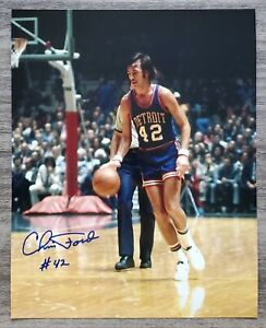 Chris Ford Signed Detroit Pistons 8x10 Photo 1st 3 Point Shot In NBA History RAD