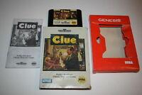 Clue Sega Genesis Video Game Complete in Box
