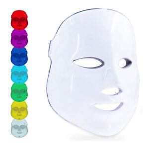 7 Colors Photon LED Light Face Mask Facial Skin Rejuvenation Anti Wrinkle