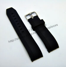 Comp. Porsche Design Racing Series P6612 22mm Black Rubber Watch Band-Strap 6612