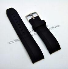 22mm Black Rubber Watch Band-Strap 6612 Comp. Porsche Design Racing Series P6612