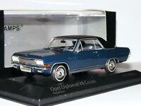 Minichamps 1965 Opel Diplomat V8 Coupe Royal Blue LTD ED 1/43