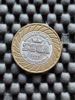 VIntage Sega Amusement token Coin Japan Arcade Theme Park Rare Promo Sonic 1994