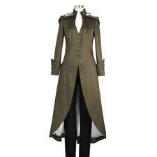 Women Punk Rave Steampunk Military Coat Jacket Long Gothic Uniform Cool