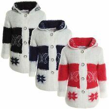 Winter Mädchen Cardigan Strick Jacke Pullover Bluse Pulli Langarm Shirt 20750