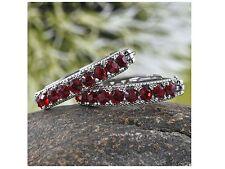 Swarovski Red Crystal Hoop Earrings
