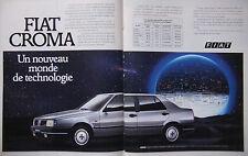 PUBLICITÉ DE PRESSE 1986 FIAT CROMA UN MONDE DE TECHNOLOGIE - ADVERTISING